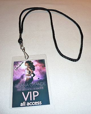 *ariana Grande Signed The Listening Sessions Vip All Access Backstage Pass Tour*