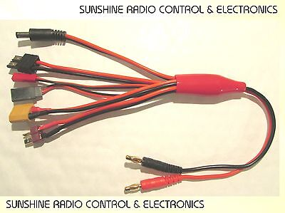 RC Battery Charge Lead Charging Cable Deans T XT60 Traxxas Futaba TX RX JST NEW