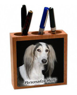 Saluki   ( 6 )    Personalized  Pencil and Pen Holder