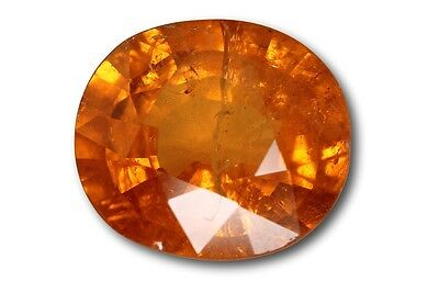 Grenat Spessartite Mandarin 3,78 carats orange