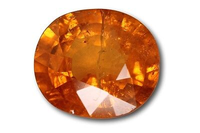 Grenat Spessartite Mandarin naturel 3.78 carats orange