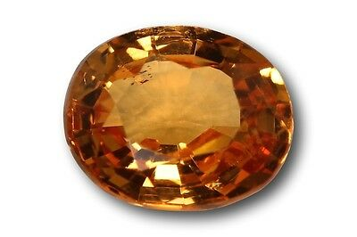 Grenat Spessartite Mandarin naturel 0.85 carat orange