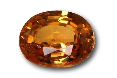 Grenat Spessartite Mandarin naturel 0.77 carat orange
