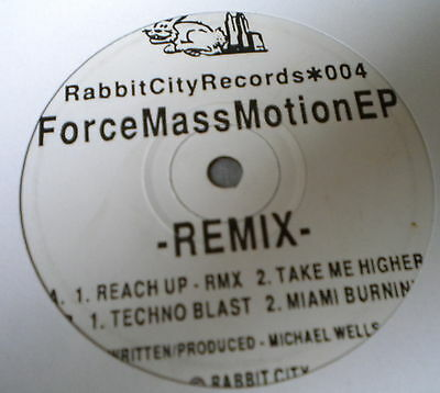 "Force Mass Motion EP (Remix) 12"" Rabbit City Records 1992"