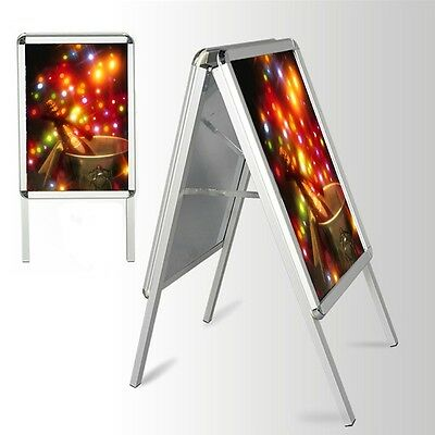 A2 A-Board Pavement Sign Poster Snap Frame Double Side Sign Display Stand