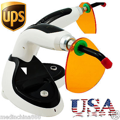 USA 2000MW Wireless Cordless LED Dental Curing Light Lamp 10W Teeth Whitening A+