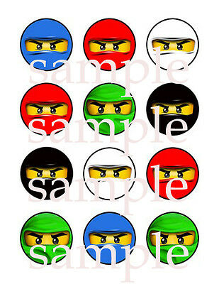 NINJAGO Edible CUPCAKE Photo Toppers ICING Image 12 Assorted FREE SHIPPING