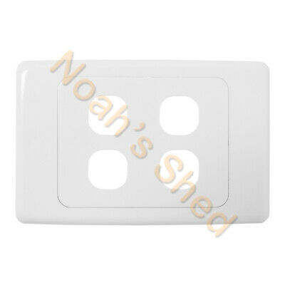 4 Gang Wall Plate Wallplate Cover Custom Suit Mech Insert Clipsal Style White