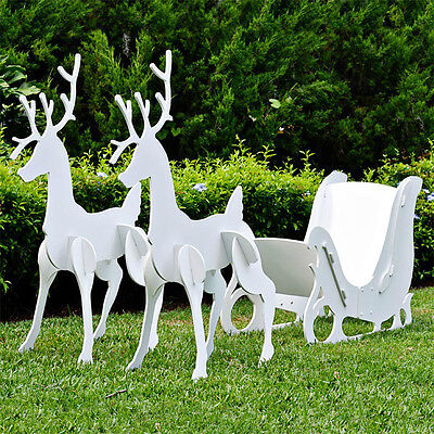Sleigh And Reindeer Set Large 2013 Update