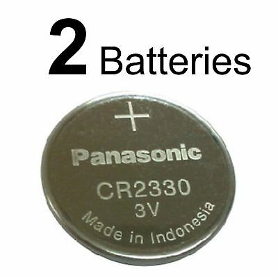 2 PANASONIC CR2330 CR 2330 BR2330 3v Lithium Battery NEW