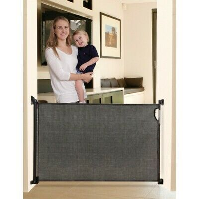 New Dreambaby Retractable Black Security Baby Pet Safety Gate 140cm Dream