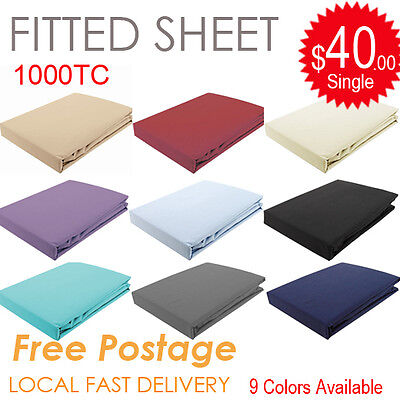 All Size 1000TC Egyptian Cotton Fitted Sheet (No Flat Sheet or Pillowcase)