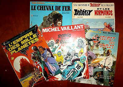 Lot de 5 BD :L'EMPIRE DES LILLE PLANETES, MICHEL VAILLANT, ASTERIX,...