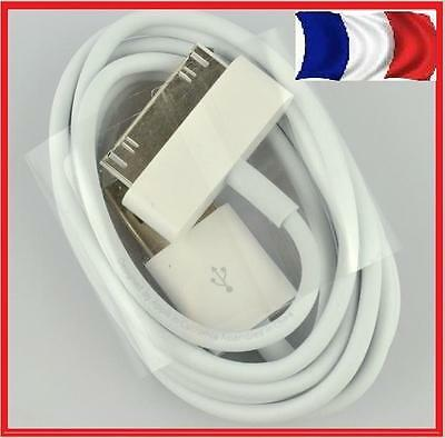 LOT 1, 2, 10, 20,50 CHARGEUR  CABLE USB IPHONE 3G 3GS 4 4S IPOD IPAD APPLE i pho