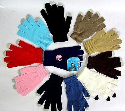 Lot Of 2 Pr--Magic Touch Screen  Gloves  One Size For Smart Phone,tablet,texting