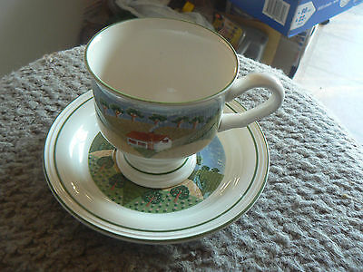 Sango cup and saucer  (Country Cottage) 6 available