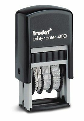 Small Date Stamp, Trodat 4810 Compact Self-Inking Date Stamp, Violet Ink