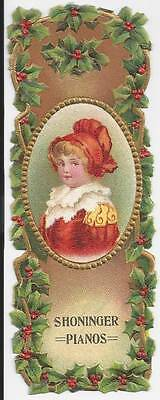 Victorian Trade Card-Shoninger Pianos, Factories:new Haven Conn, Warerooms: Ny