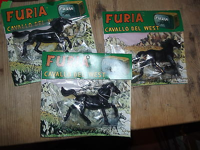 Furia Cavallo Del West '70  Tv  -3 Pose Diverse-   1/32 Character Toy