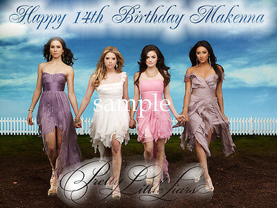 PRETTY LITTLE LIARS Edible Photo CAKE Topper Personalized ICING Image FREE SHIP