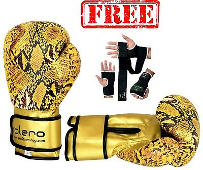 EVO MAYA Leather Boxing Gloves MMA Sparring Kick Boxing Punch Bag Training Glove