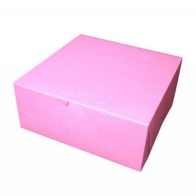 Pack of 25 PINK 12x12x5 Bakery / Cake Box