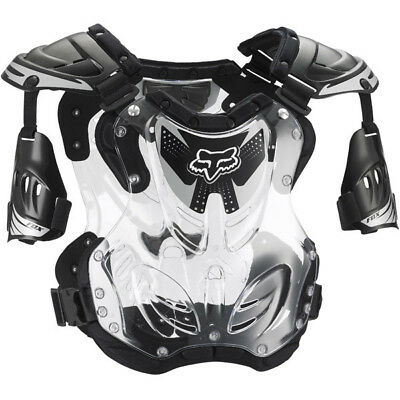 Fox Mx 2015 Adult R3 Roost Deflector Motocross Gear Body Armour Dirtbike Black L