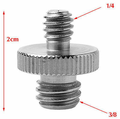 """1/4"""" Male Threaded To 3/8"""" Male Threaded Double Male Screw Adapter UK Seller"""