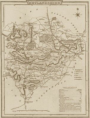 Antique Victorian Reproduction Sheet Map: Any English County England, Britain UK