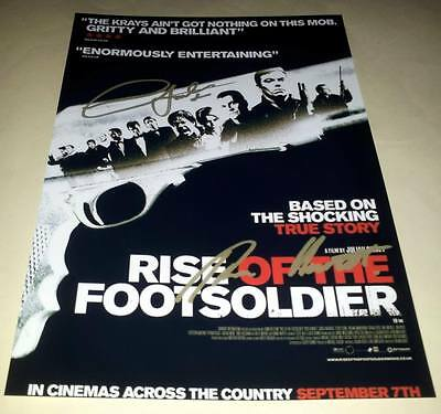 """Rise Of The Footsoldiers Cast X2 Pp Signed 12""""x8"""" Poster Football Hooligan"""