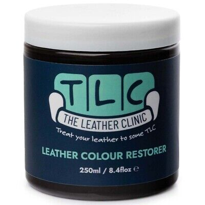 BLACK Leather Colour Dye Restorer. Repair faded & worn leather Sofas & Chairs
