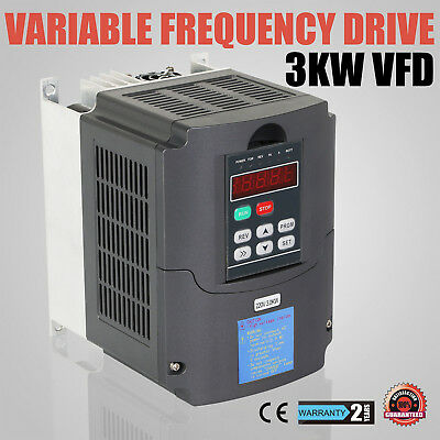 New 3KW VARIABLE FREQUENCY DRIVE INVERTER VFD NEW 4HP&220V