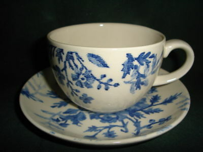 Johnson Brothers Blue Tapestry Cup and Saucer sev avail