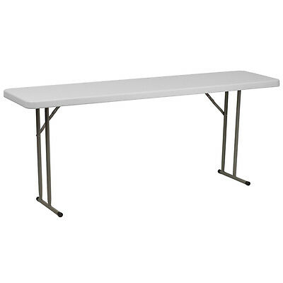 "18""x 72"" Plastic Folding Table - Seminar Table - Training Table"
