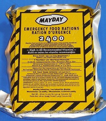 3 Day Food Supply Emergency Survival MDFB24 FOOD BAR RATION CAR KIT BUG MAYDAY