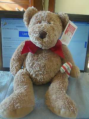 AVON Collectible Christmas Holiday Talking Teddy Bear 100 Year Anniversary 2002
