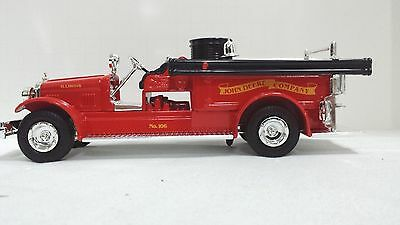 Die Cast FIRETRUCK by John Deere 1926 Seagrave Bank in box- Made in USA