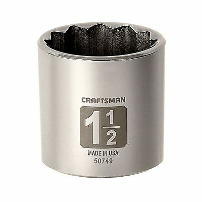 """CRAFTSMAN 1/2"""" Dr Shallow SAE Socket 12PT Point Laser Etched Easy Read ANY SIZE"""