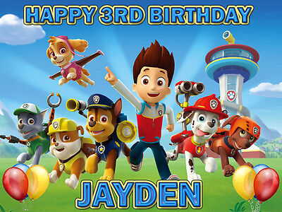 PAW PATROL Edible Photo CAKE Image Icing Topper Decoration FREE SHIPPING