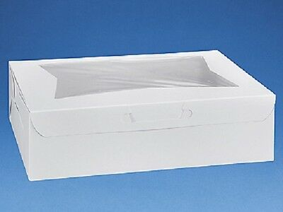 Pack of 25 WHITE 14x10x4 Window Bakery or Cake Box