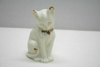 Vintage Baum Bros Formalities Cat Figurine with Gold Design