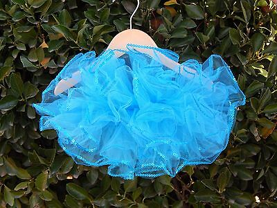 Turquoise Sequin Trim TUTU Baby Girl One Size fits 3 - 24 months Dress SO CUTE!!