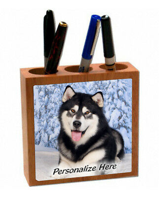 Alaskan Malamute  ( 3 )   Personalized  Pencil and Pen Holder