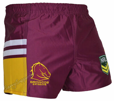 Brisbane Broncos 2018 NRL Footy Shorts Adults Sizes and Kids Sizes