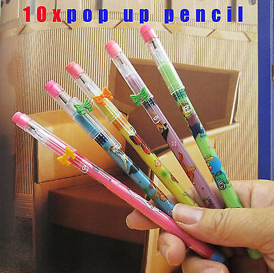 10 x Lovely Cute Kids/Student POP UP SCHOOL PENCIL PARTY FAVOR