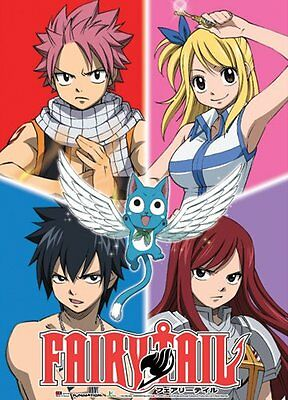 Fairy Tail Group Wall Scroll, 33-Inch by 44-Inch
