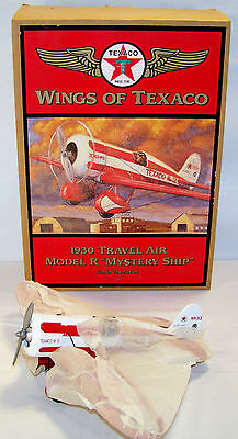 1997 Ertl#H501 5th 1930 TRAVEL AIR MODEL R MYSTERY SHIP Wings of TEXACO Airplane