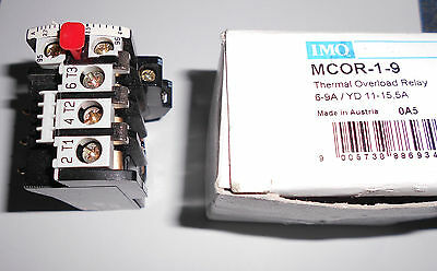 Thermal Overload Relay Part No. Mcor-1-9