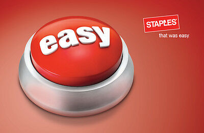 Staples Gift Card $25/ $50/ $100 - Mail delivery