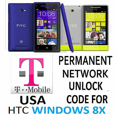 Htc Permanent Network Unlock Code  For T-Mobile Htc Windows Phone 8X Pm23220